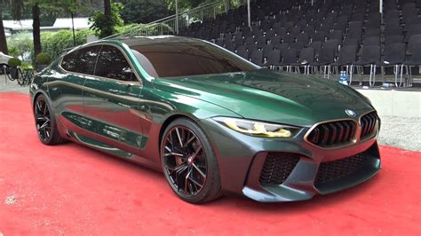 Bmw M8 Gran Coupe Concept Driving On The Road For The