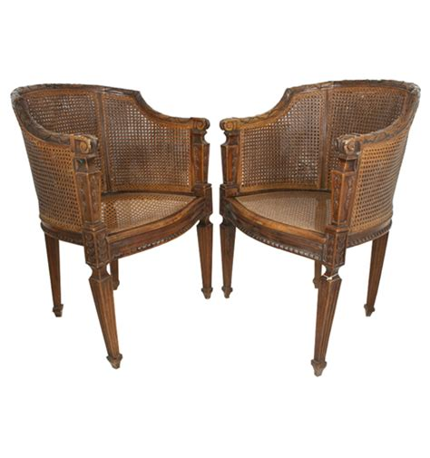 archaeology antique highback wicker chairs ua0163 sv