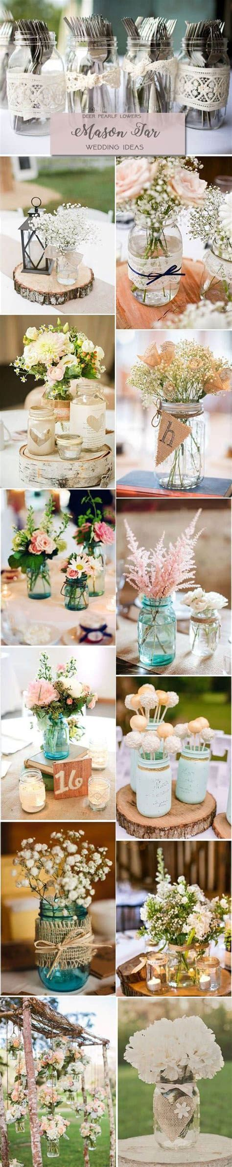 35 beautiful mason jars wedding decoration ideas you can