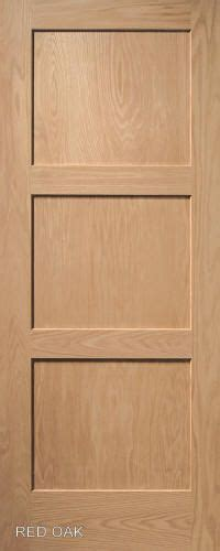 contemporary  panel interior door  red oak wood vt