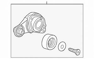 Genuine Honda Serpentine Belt Tensioner Assembly 31170