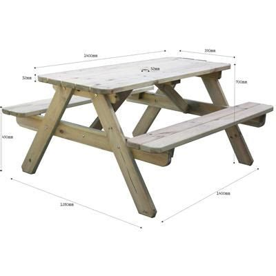 Picnic Bench Dimensions by Picnic Bench 1400 Dimensions From Rawgarden Neat Picnic