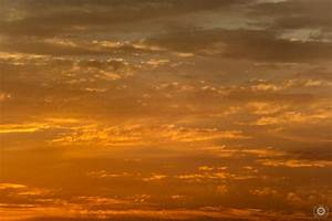 Orange Sunset Sky and Clouds Background ...