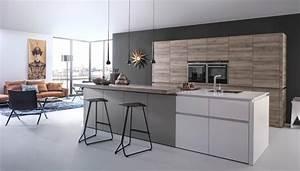cuisine grise moderne astuces et idees deco pour la 2015 With idee deco cuisine avec modele de cuisine moderne en bois