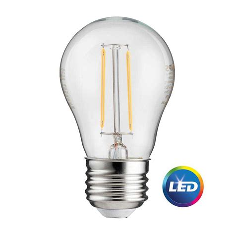 Home Depot Led Lights by Philips 25 Watt Equivalent A15 Led Light Bulb Vintage Soft