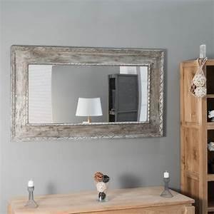Miroir De Salon : miroir en bois patin bronze palerme 140cm x 80cm ~ Teatrodelosmanantiales.com Idées de Décoration