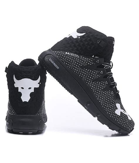 Under Armour Project Rock Delta Black Running Shoes - Buy ...