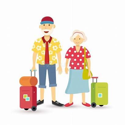 Couple Travel Summer Vacation Holiday Elder Clip