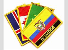 Country Flag Patches Rectangle With Name