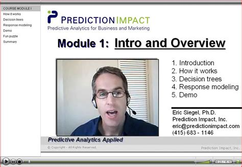 Predictive Analytics Training For Business, Marketing And Web