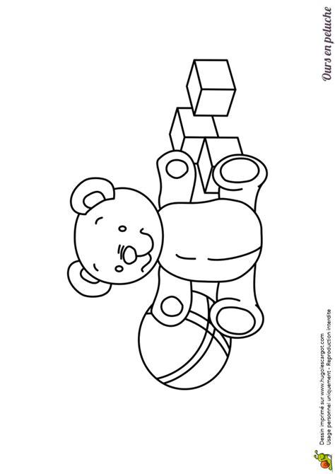 jeux de fille cuisine dessin à colorier d un ours en peluche avec des jouets