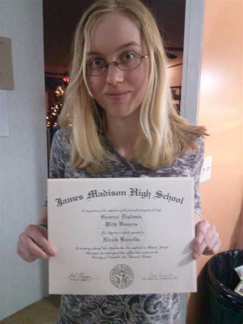 nicole earned  accredited high school diploma