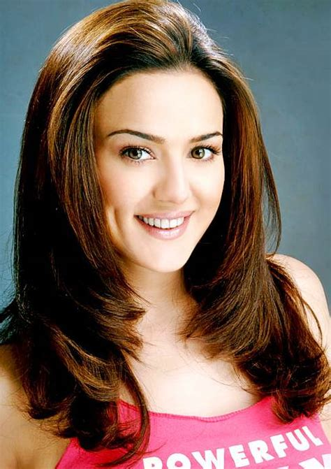 preity zintas long layered hairstyle casual party evening everyday careforhaircouk
