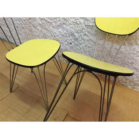 chaise en formica chaise en formica jaune citron 1950 design market