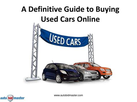 A Definitive Guide To Buying Used Cars Online