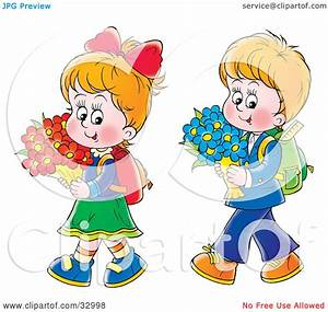 Clipart Illustration of a Little Boy And Girl Walking Home ...