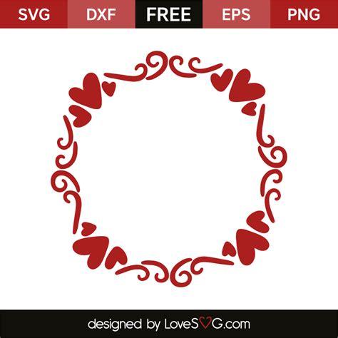 1,077 free images of svg. Hearts Monogram Frame | Lovesvg.com