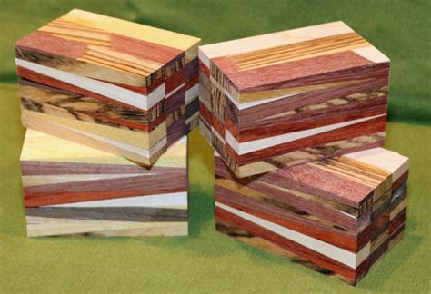 Four Eclectic Segmented Turning Blanks