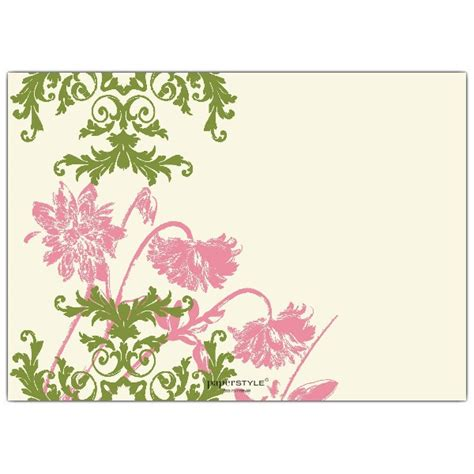 floral lace pink  green birthday invitations paperstyle
