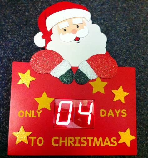 wooden digital advent calender countdown to christmas