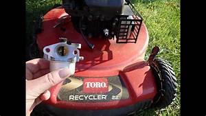 Toro Recycler Lawn Mower Model 20334 - Diy Carburetor Repair Not Running Correctly