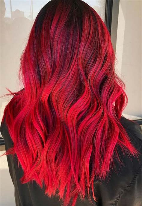hot red hair color shades  dye  red hair dye tips