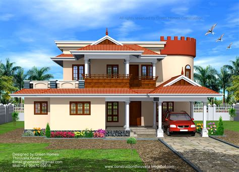 luxury house plans with pictures bhk kerala style home designed construction green