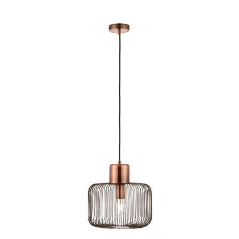 endon 68986 nicola antique copper ceiling pendant