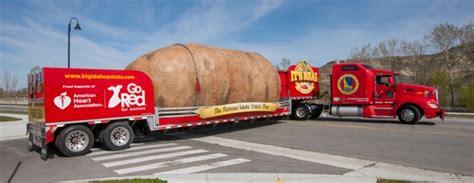idaho potato truck hits road     promote