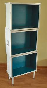 Upcycled Three Drawer Bookcase #recycling #reduce #reuse
