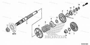 Honda Motorcycle 2016 Oem Parts Diagram For Final Shaft