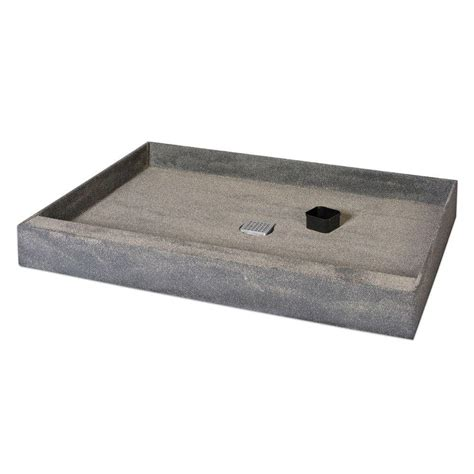 Shower Base Pan - wedi one step 36 in x 60 in shower base with center