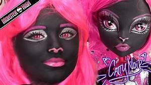 Monster High Catty Noir Doll Costume Makeup Tutorial For