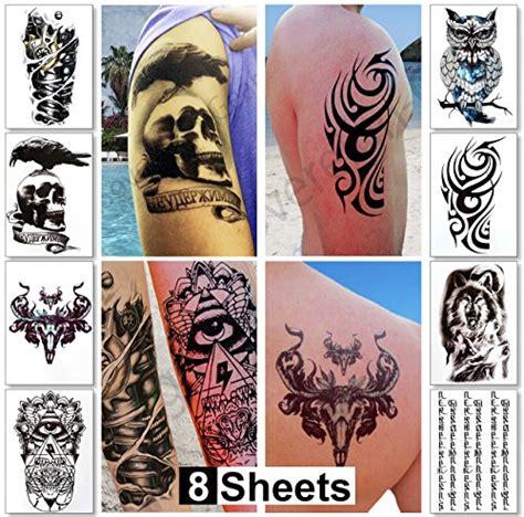large temporary tattoos  guys  men teens fake