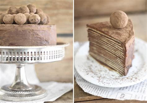 Chocolate Amaretto Crêpe Cake - Sprinkle Bakes