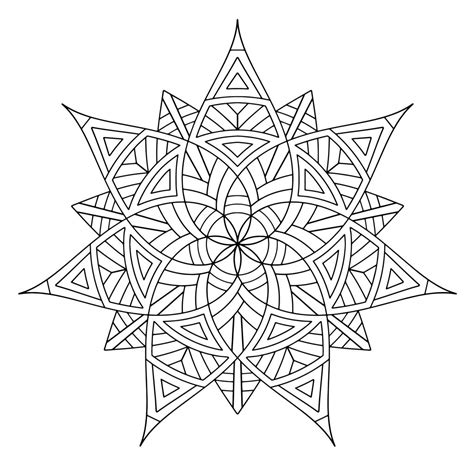 Geometric Design Coloring Pages Free Printable Geometric Coloring Pages For
