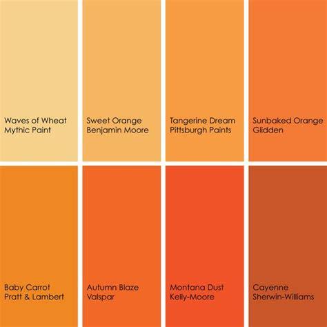 orange color palette trend orange colors