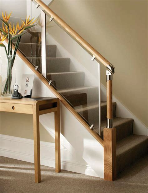 Glass Banisters For Stairs - s vision glass balustrade system oak handrails stair