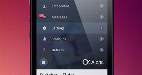 alpha iphone app ui kit psd mobile apps pixeden
