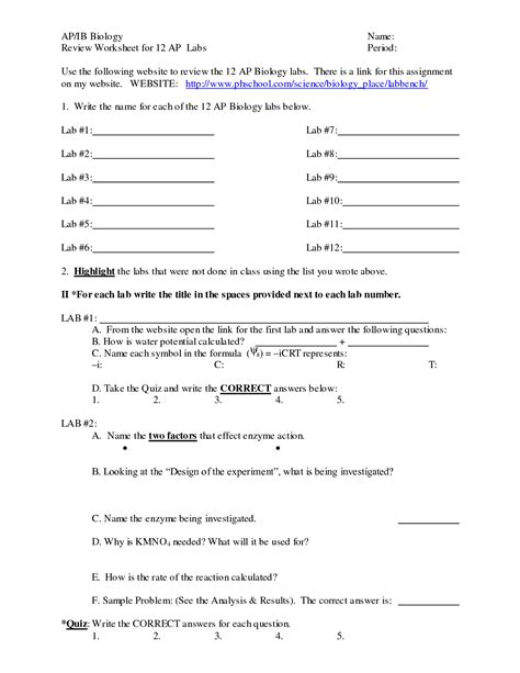 Biology Worksheet Category Page 2 Worksheetocom