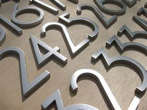 Modern house numbers modern exterior phoenix by for Exterior letters and numbers