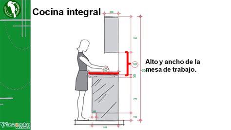diseno de cocinas integrales medidas de los muebles