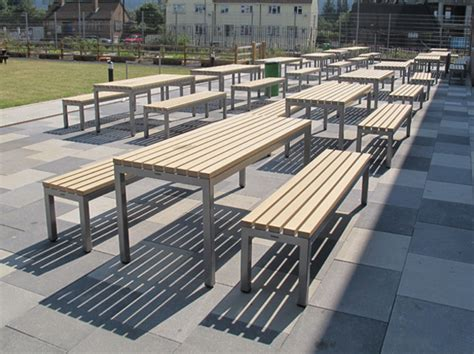 plastic composite picnic tables parallel picnic benches tables for outdoor dining