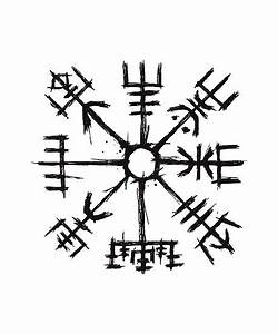 Compas De Vegvisir : viking compass vegvisir posters by beltschazar redbubble ~ Melissatoandfro.com Idées de Décoration