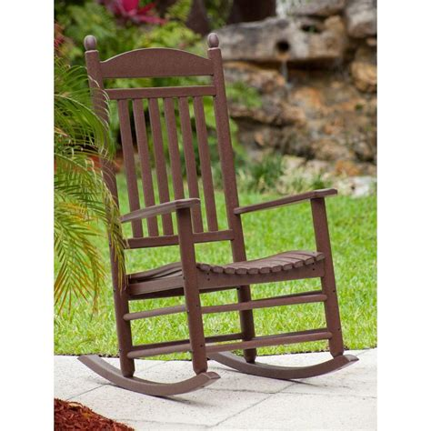polywood presidential white patio rocker r100wh the home