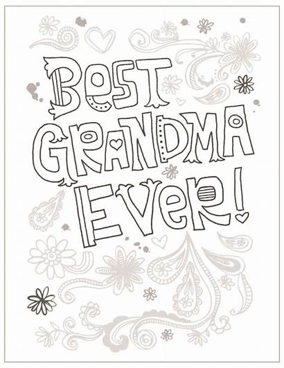Grandma Coloring Pages Mothers Printable Template Happy