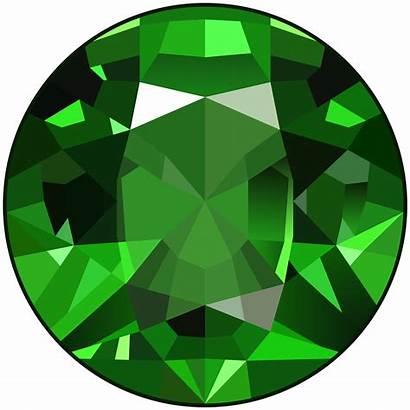 Gem Emerald Clipart Clip Stone Background Diamond