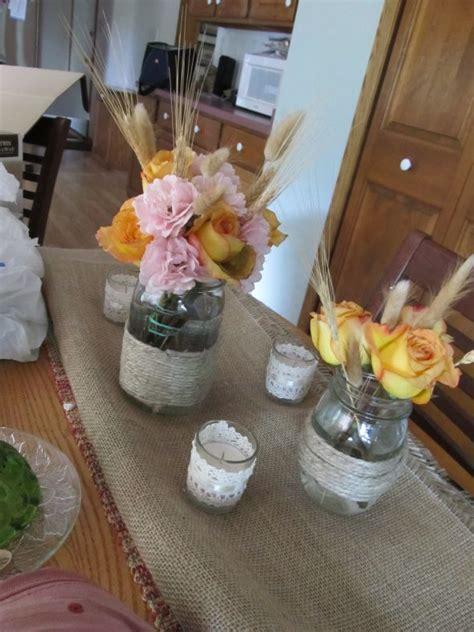 diy fall jar centerpiece weddingbee photo gallery