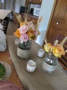 DIY Fall mason jar centerpiece | Weddingbee Photo Gallery