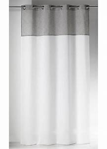 Voilage Gris Et Blanc : voilages gris voilage organza rayures fantaisies gris ~ Dailycaller-alerts.com Idées de Décoration